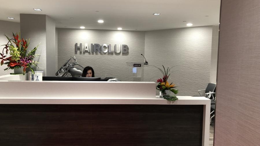 Hair Club reception